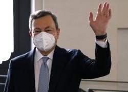 """Draghi esalta gli Azzurri """"Ci avete messo al centro dell'Europa"""""""
