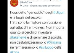 "Massacro Uiguri, Ambasciata cinese in Italia: ""Bugie non fermeranno sviluppo Cina"""