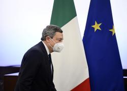 """Draghi in Libia: """"Ricostruire l'antica amiciziafrutto di una vicinanza storica"""""""