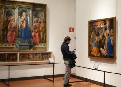 Uffizi: riemergono affreschi perduti durante i lavori di restauro