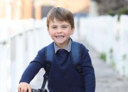 Principe Louis compie 3 anni e Kate Middleton lo immortala al primo giorno di asilo