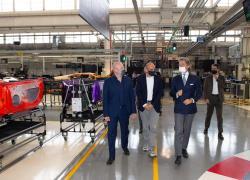 Il Presidente dell'Emilia Romagna Stefano Bonaccini in visita alla Lamborghini
