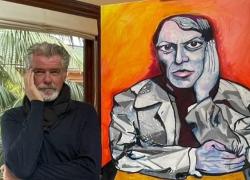 Pierce Brosnan, ex 007, annuncia la carriera di pittore