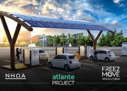 Free2Move eSolutions e NHOA lanciano la prima rete di ricarica 100% integrata con rinnovabili