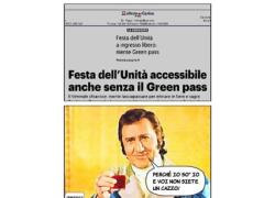 """Festa dell'Unità 2021 senza Green pass.  Il web ironizza: """"Perché io so' io..."""""""