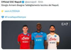 Armani loves sport. Dopo Nazionale e Team Italia, la maglia per il Napoli che fa bene alla città