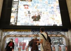 Climate change: Milano accende il Climate Wall in stazione centrale