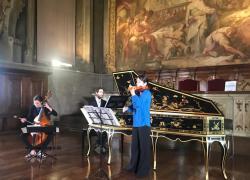 Musiche francesi rococò nella Sala del Cenacolo del Museo della Scienza e della Tecnologia di Milano.
