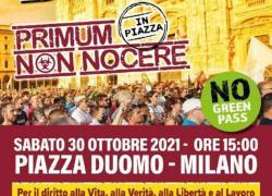 No Paura Day Milano: sabato 30 ottobre torna la manifestazione No Green pass