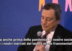 Draghi: troppe disuguaglianze, a pagare donne e giovani