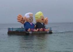 Carbis Bay blindata per il G7, la protesta arriva anche dal mare