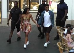 La cantante Ciara e il campione di football Wilson a Capri