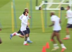 Messi, Neymar e Mbappe, le stelle del Psg si allenano
