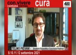 """Filosofo Pievani spiega la """"Cura"""" al con-vivere Carrara Festival"""