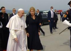 Papa Francesco lascia Bratislava, la cerimonia in aeroporto