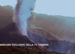Il vulcano di La Palma nelle Canarie ha ripreso ad eruttare