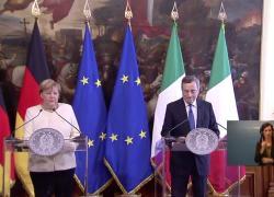 """Ue, Merkel: """"L'Italia sicuramente non sostituirà la Germania"""""""