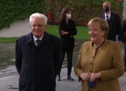 Secondo giorno a Berlino per Mattarella, l'incontro con Merkel