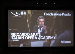Riccardo Muti porta la sua Opera Academy in Fondazione Prada
