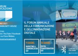 Al via il Forum Comunicazione 2021 dal 9 al 10 giugno