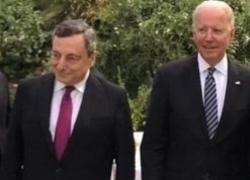 """G7, Draghi vede Biden: """"Piena identità di vedute, incognita Cina"""""""