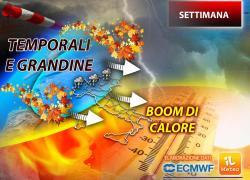 Italia spaccata in due, settimana tra pioggia e caldo: ecco dove