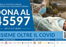 Postumi da Covid per 80% guariti, raccolta fondi Gemelli Roma per ricerca e cura