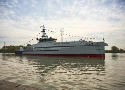 Cantiere navale Vittoria, varato pattugliatore d'altura green P.04 Osum per Gdf