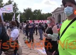 8 mila persone all'Arco della Pace di Milano per dire sì al Ddl Zan, le immagini del presidio