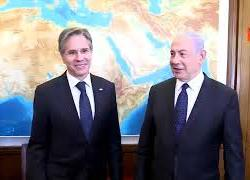Il segretario Usa Blinken in Israele incontra il premier Netanyahu