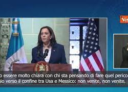 """SOTTOTITOLI Kamala Harris ai migranti del Centro America: """"Non venite negli Usa"""""""