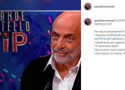 Grande Fratello Vip concorrenti, Paolo Brosio fuori: 'È IN OSPEDALE'