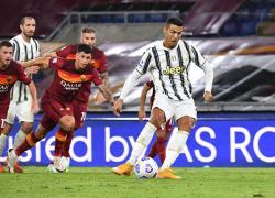 Ronaldo replica due volte a Veretout, Roma-Juventus 2-2