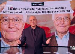 """Il monologo di Crozza: """"Autostrade. Benetton rendetevi utili... ridate gli utili"""""""