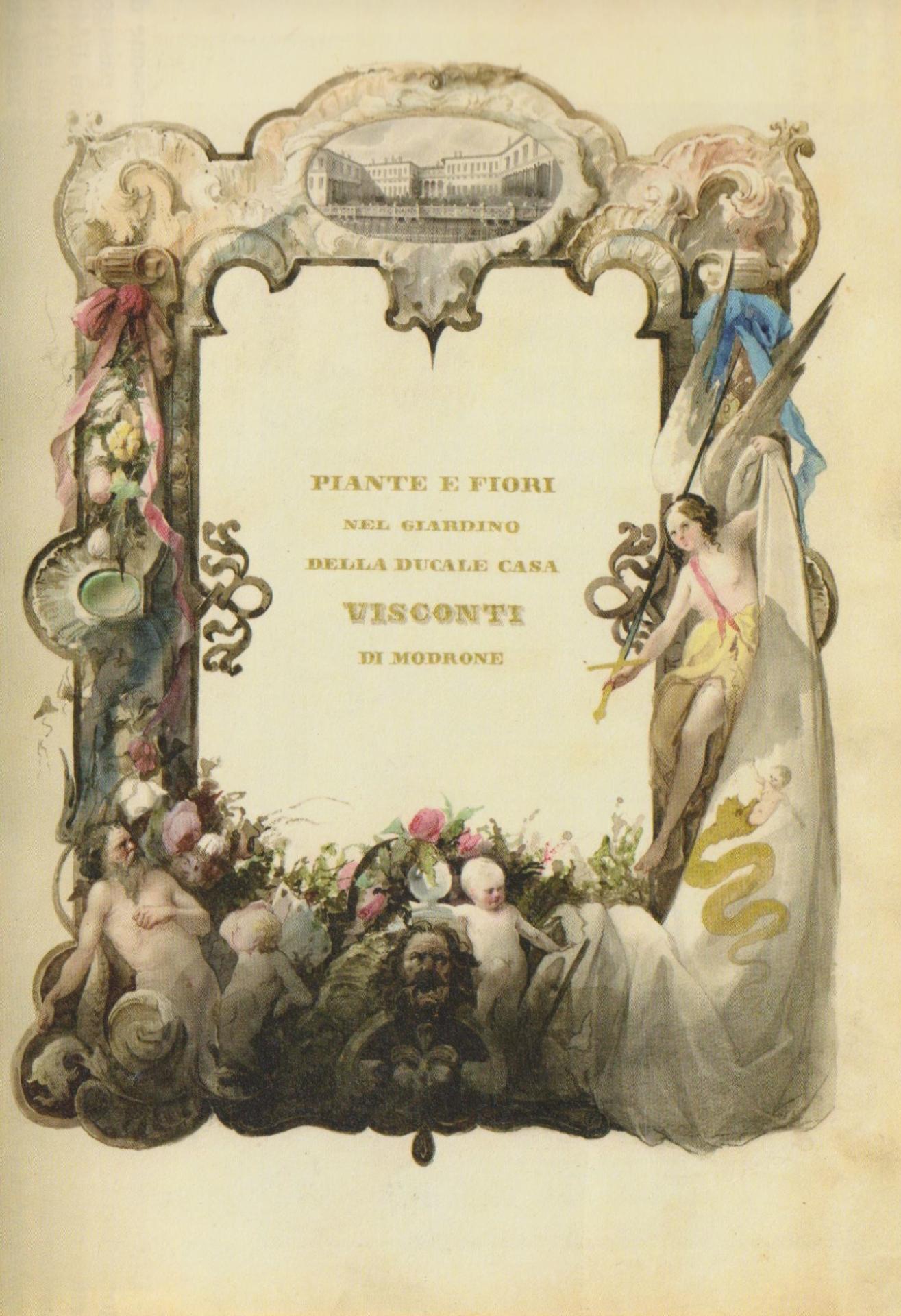 copertina del registro di piante e fiori di casa ducale Visconti