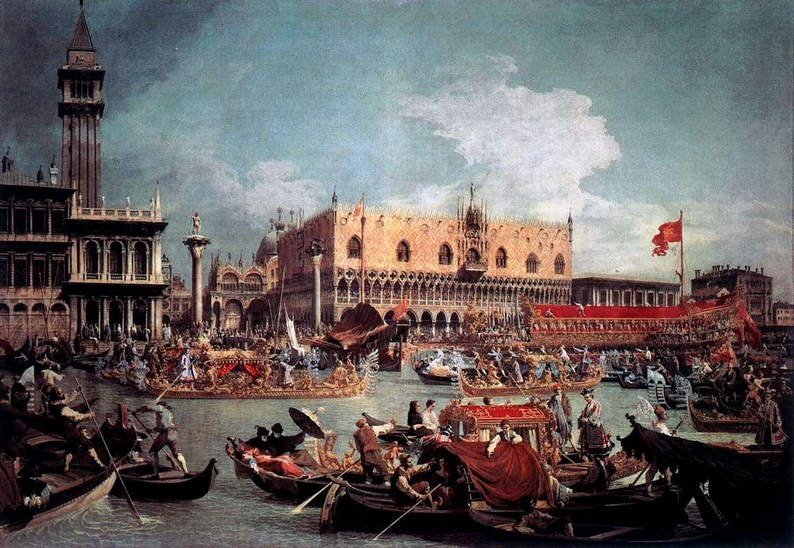 Il ritorno del Bucintoro al molo il giorno dell'Assunzione di Canaletto