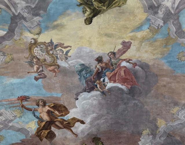 Cielo della Sala da Ballo di Gersam Turri, photo Matteo Piazza